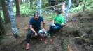 Aufbauarbeiten Bogenparcours